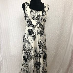 Donna Ricco Black and White Floral Dress